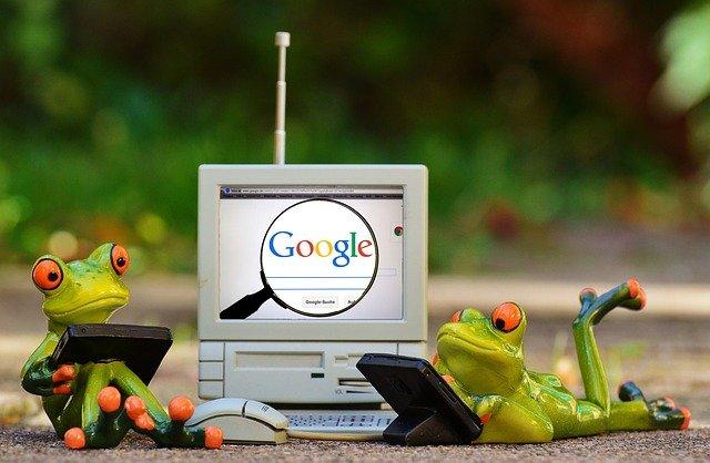 žáby u počítač s google
