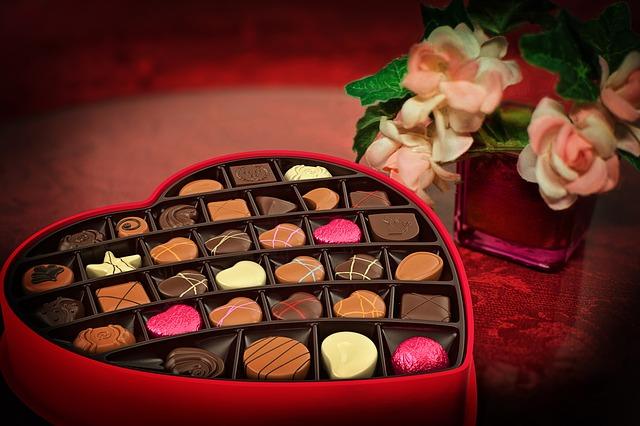 srdcová bonboniéra