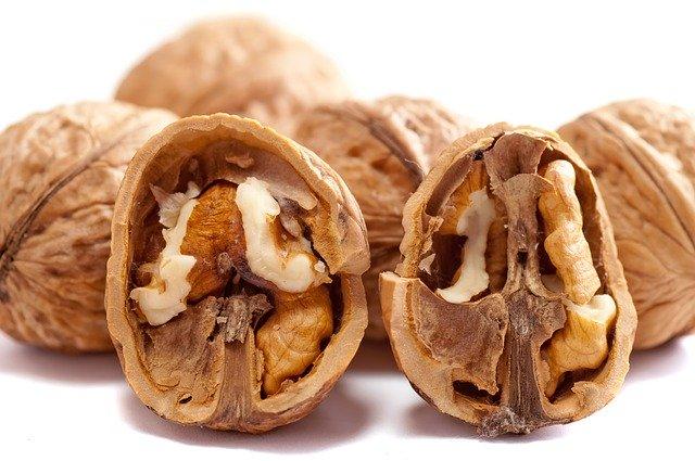 rozpůlený ořech