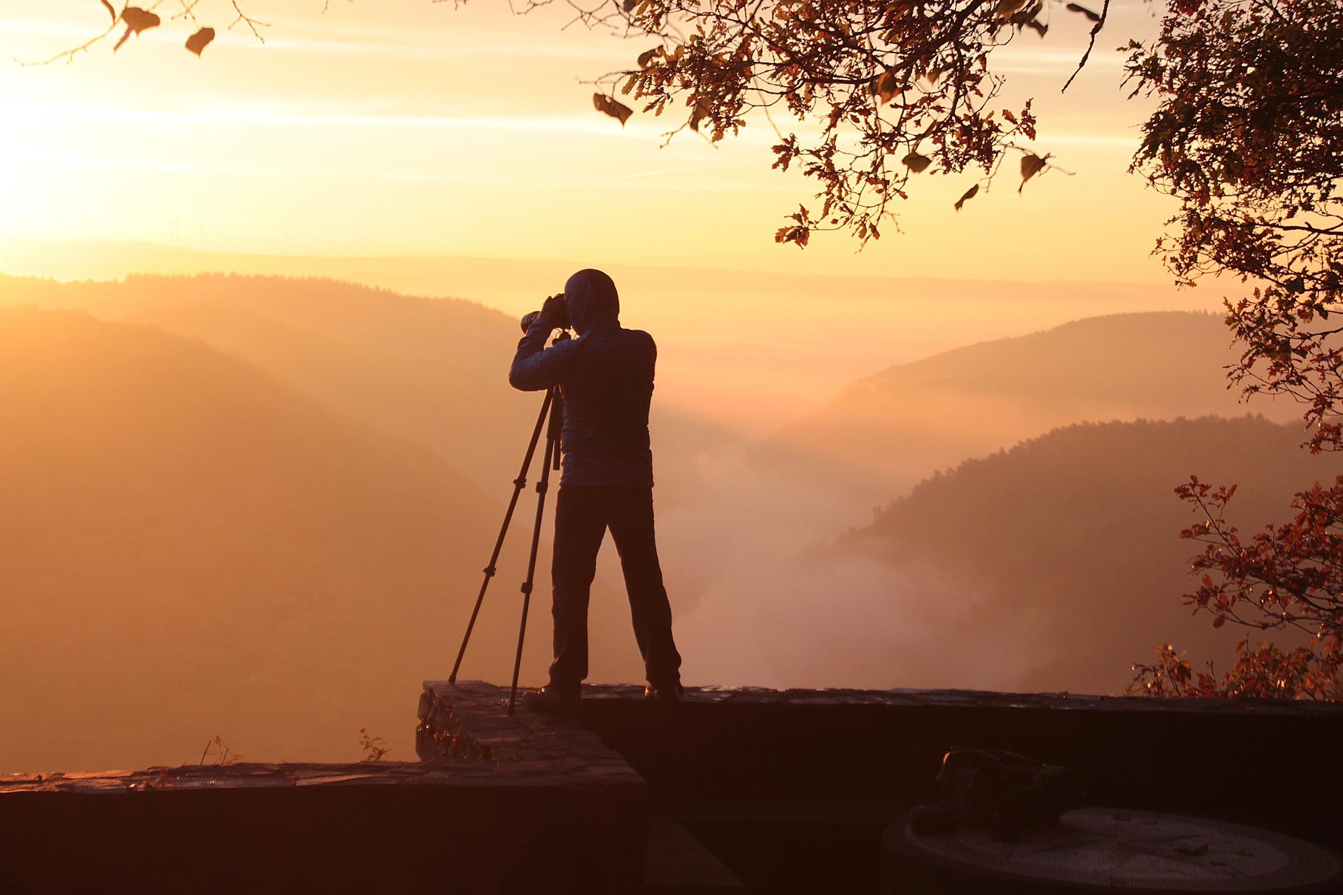 fotograf v přírodě